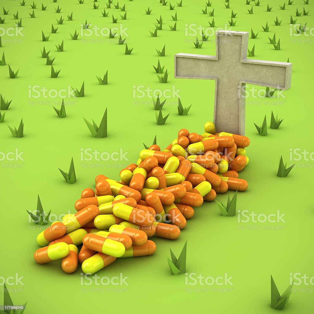 Pharmaceutical grave royalty-free stock photo