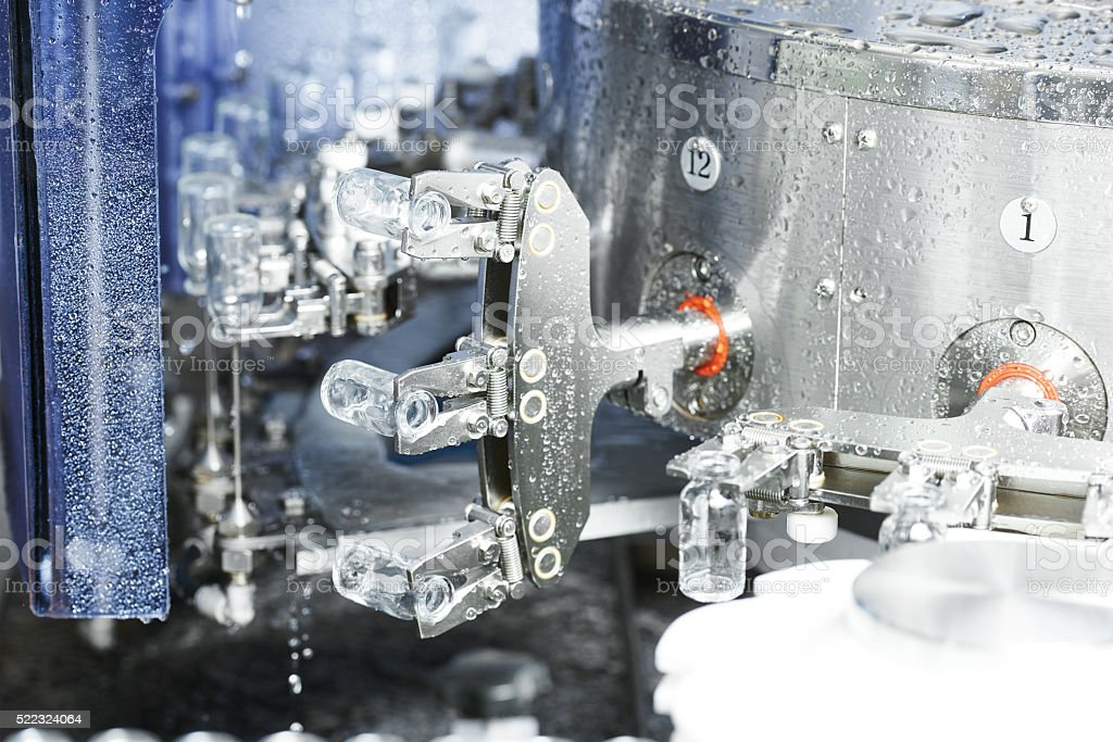 pharmaceutical medicine industrial washer cleaning and drying ma stock photo