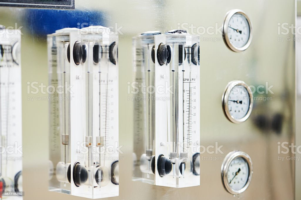 Pharmaceutical water treatment system stock photo