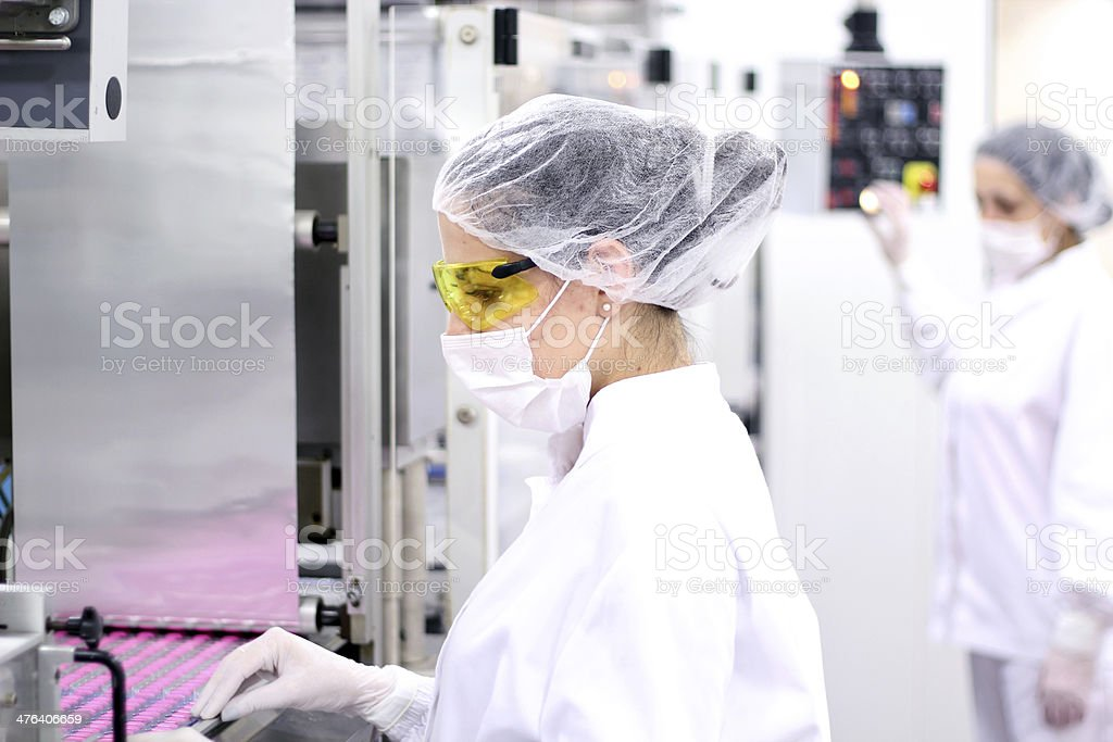 Pharmaceutical Workers stock photo