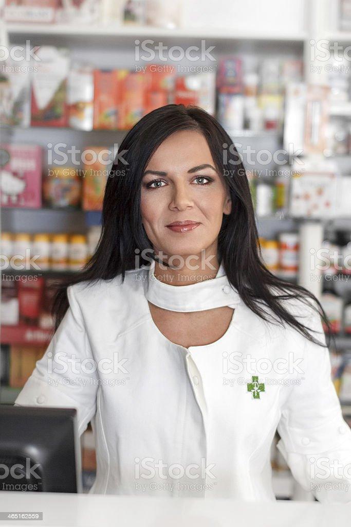 Pharmacist in drugstore royalty-free stock photo