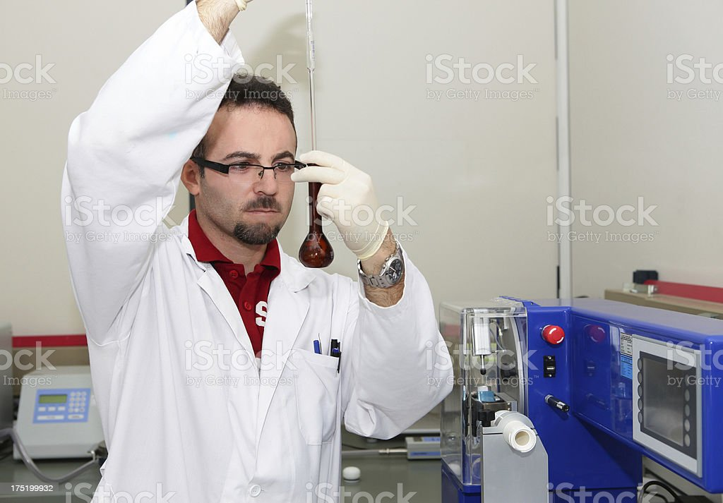 Pharmacist in the laboratory royalty-free stock photo