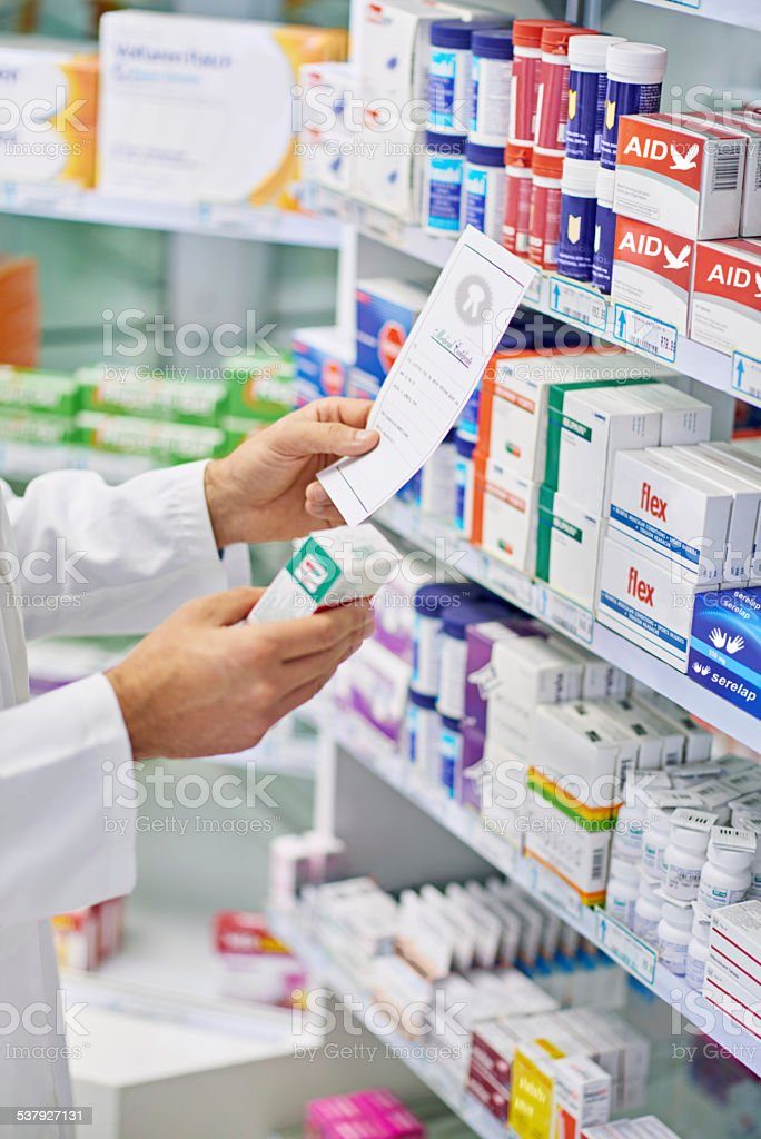 Just what the doctor ordered stock photo
