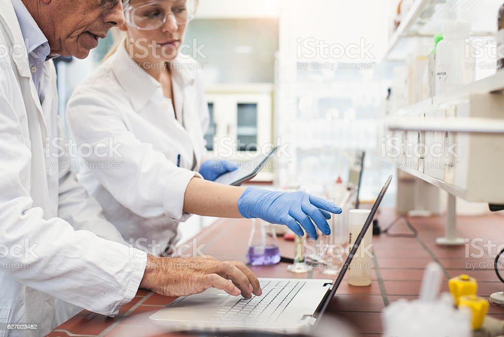Pharmacist Using Modern Technology stock photo