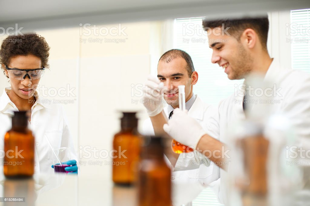 Pharmacists in a laboratory stock photo