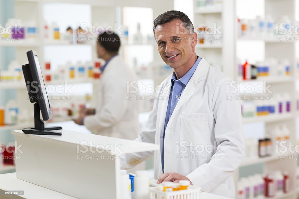 Pharmacists royalty-free stock photo