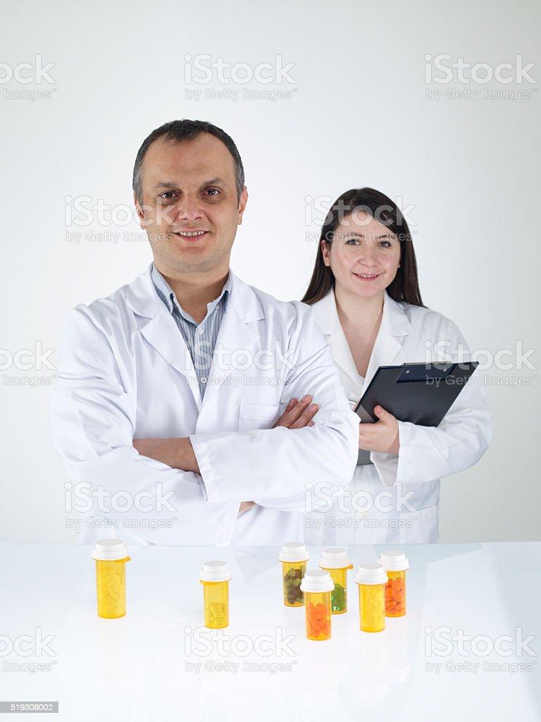 Pharmacists stock photo