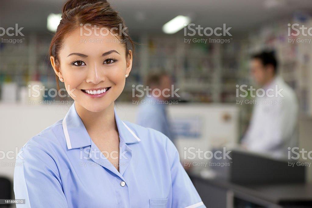 pharmacy assistant royalty-free stock photo