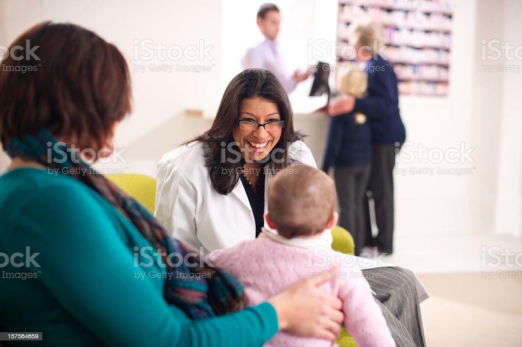 pharmacy baby check royalty-free stock photo