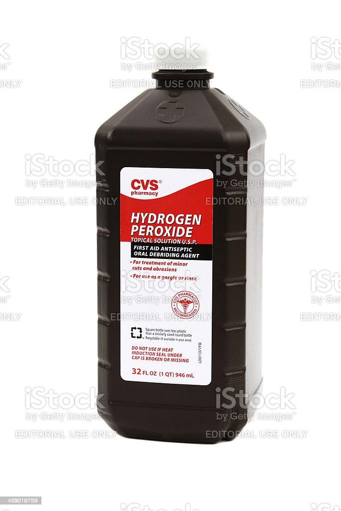CVS Pharmacy brand Hydrogen Peroxide. royalty-free stock photo
