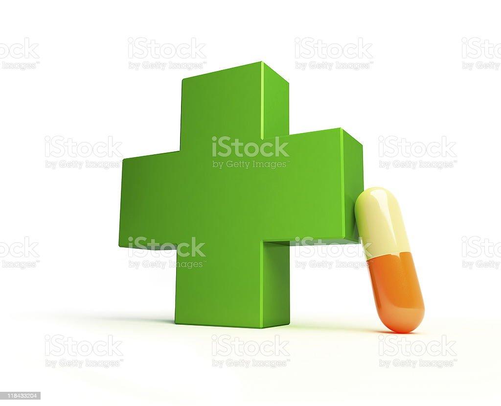 pharmacy cross royalty-free stock photo