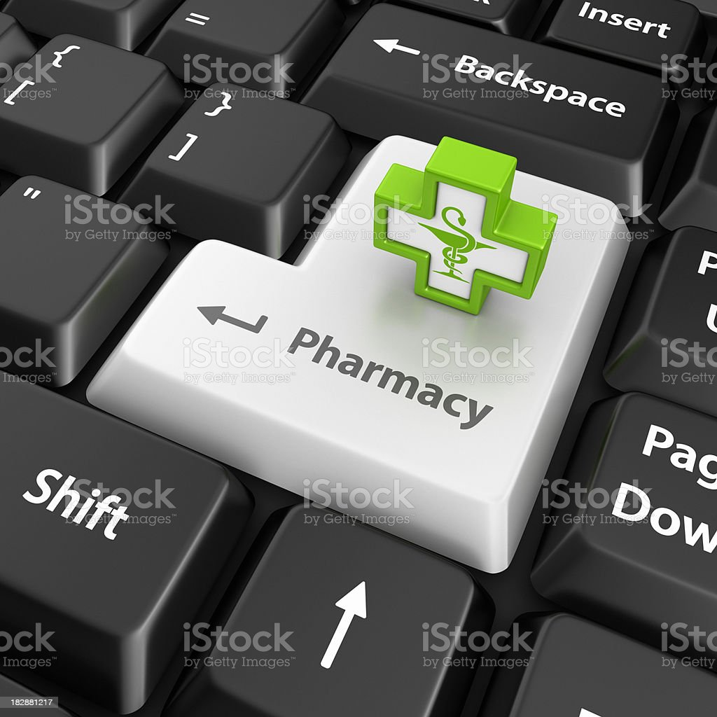 pharmacy enter key royalty-free stock photo