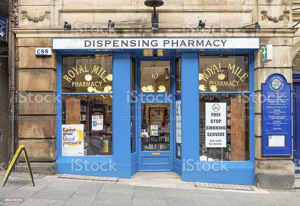 Pharmacy in Edinburgh stock photo