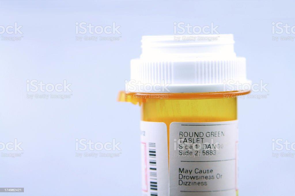 pharmacy medication bottle - close royalty-free stock photo