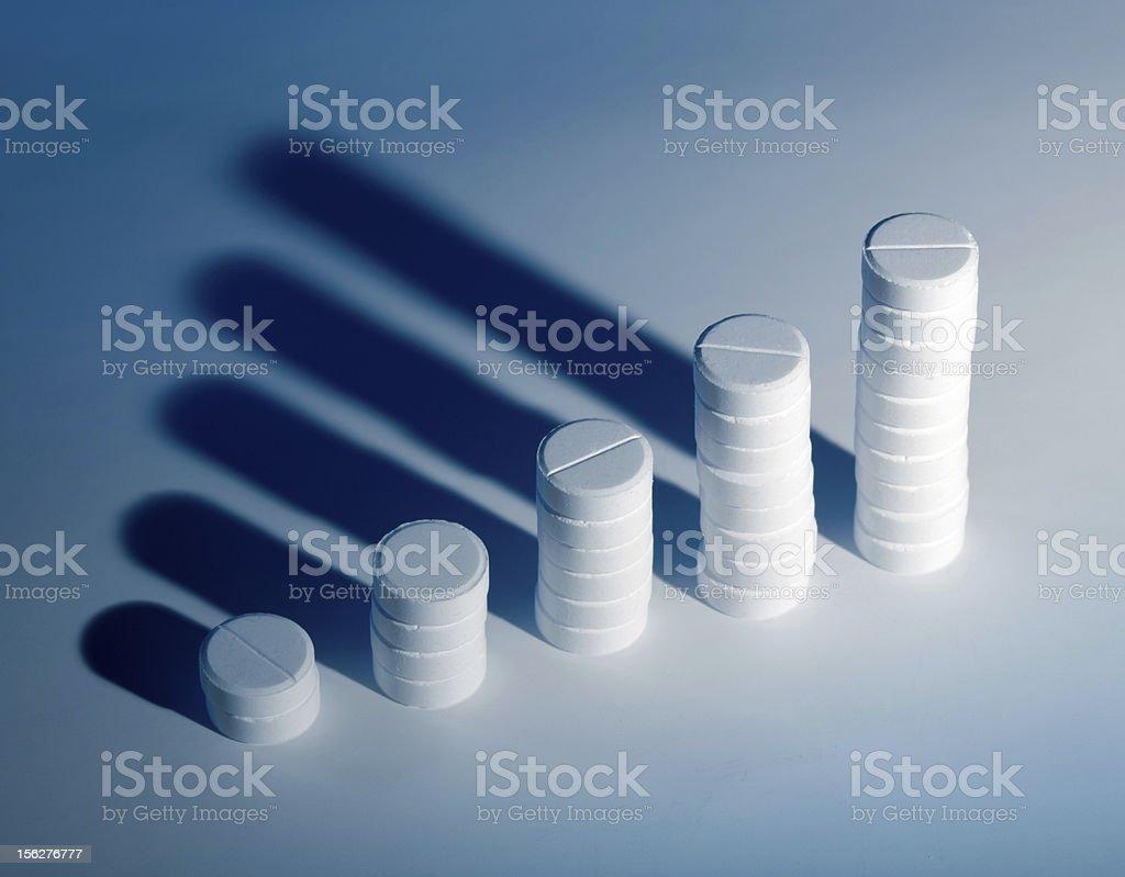 Pharmacy rising graph stock photo