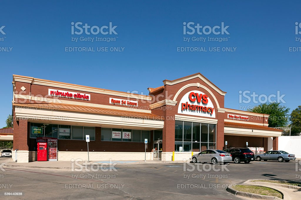 CVS Pharmacy Store in Fort Worth stock photo