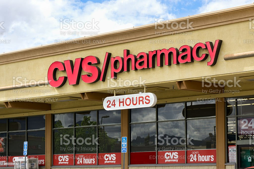 CVS Pharmacy storefront stock photo