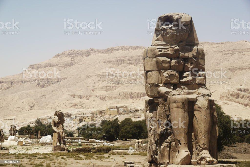 Pharoh sculpture stock photo