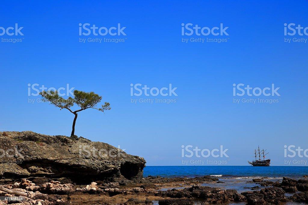 Phaselis-Licia coast-Turkey stock photo