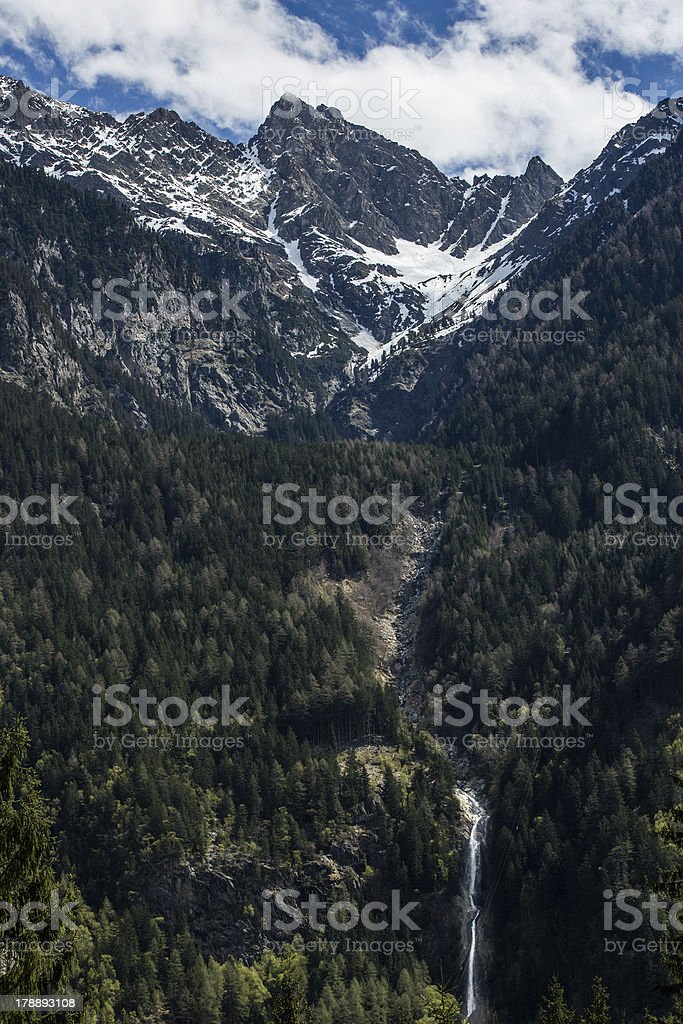 Phases of water in mountains royalty-free stock photo