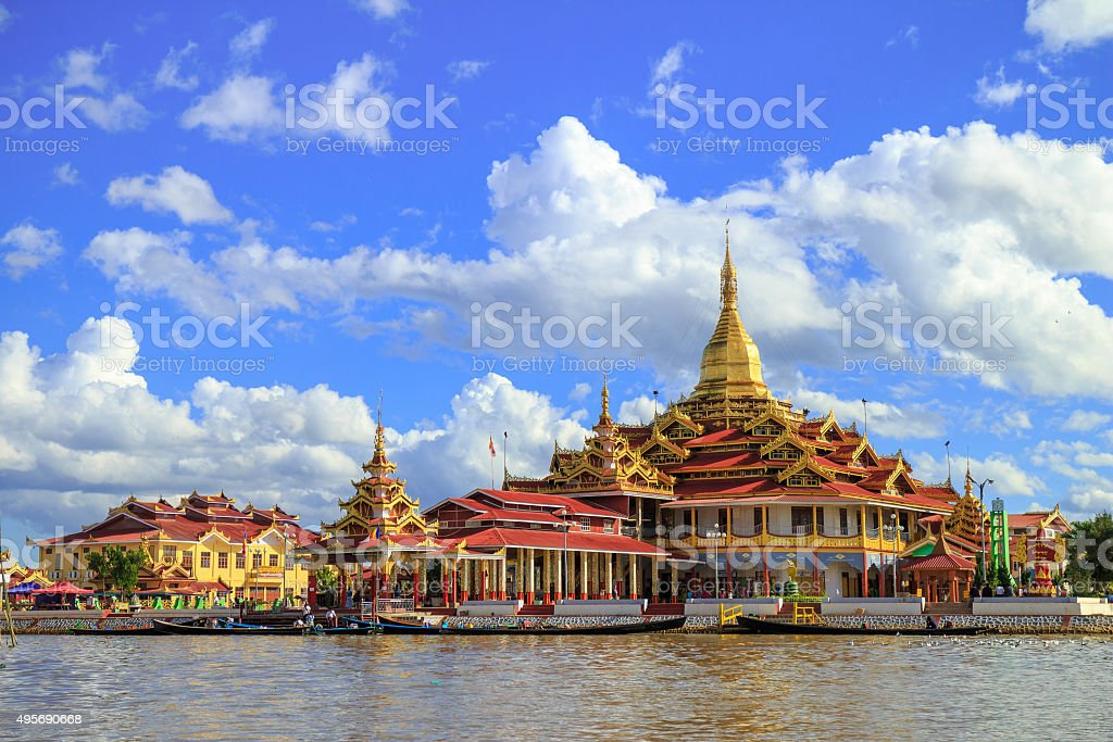 Phaung Daw Oo Pagoda, Inle lake, Shan state, Myanmar stock photo