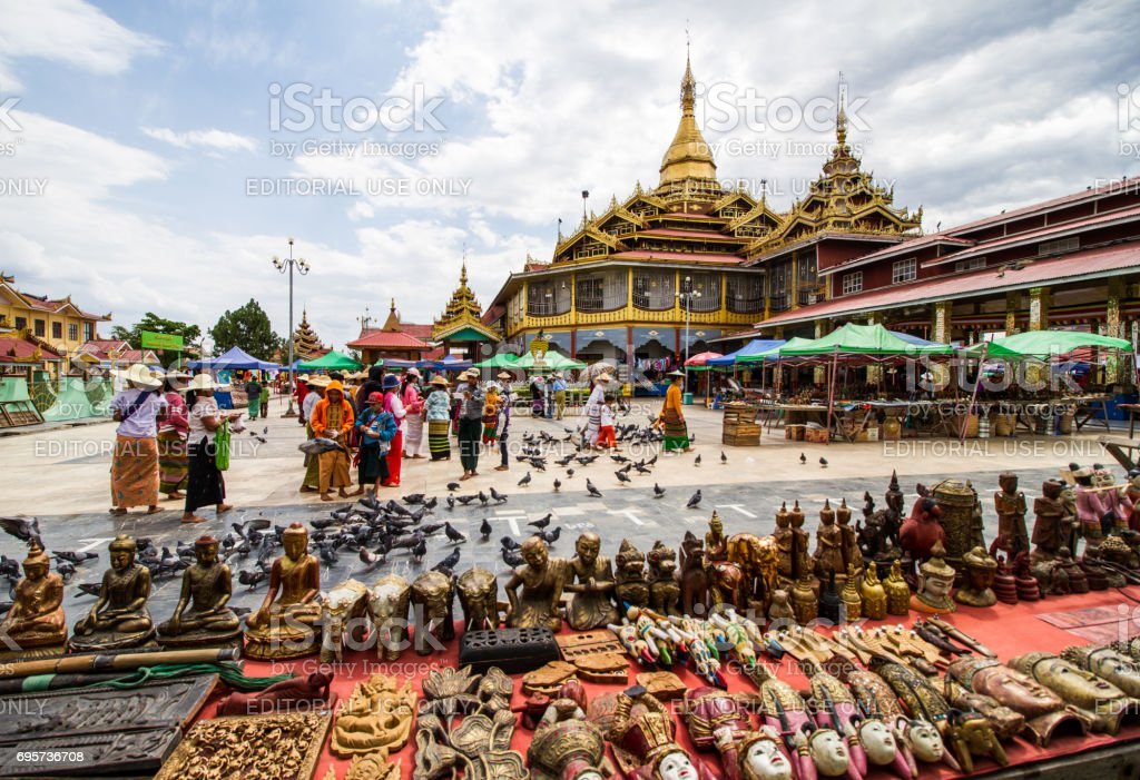 Phaung Daw Oo pagoda stock photo
