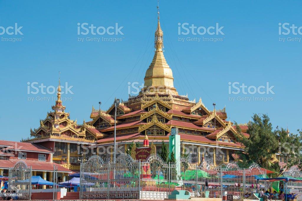 Phaung Daw Oo Pagoda, Shan State, Myanmar stock photo