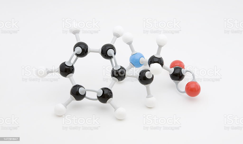 Phenylalanine Amino Acid Molecule royalty-free stock photo