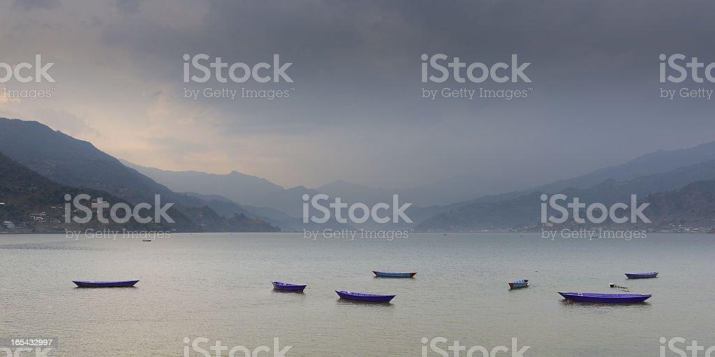 Phewa lake, Pokhara, Nepal royalty-free stock photo