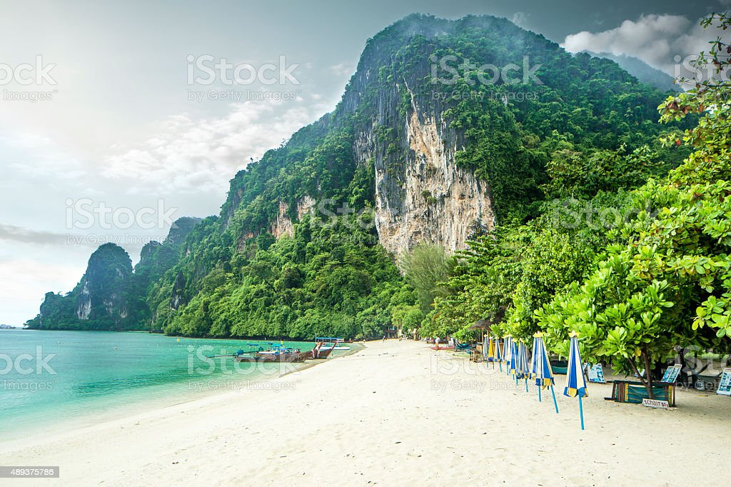 phi phi island beach stock photo