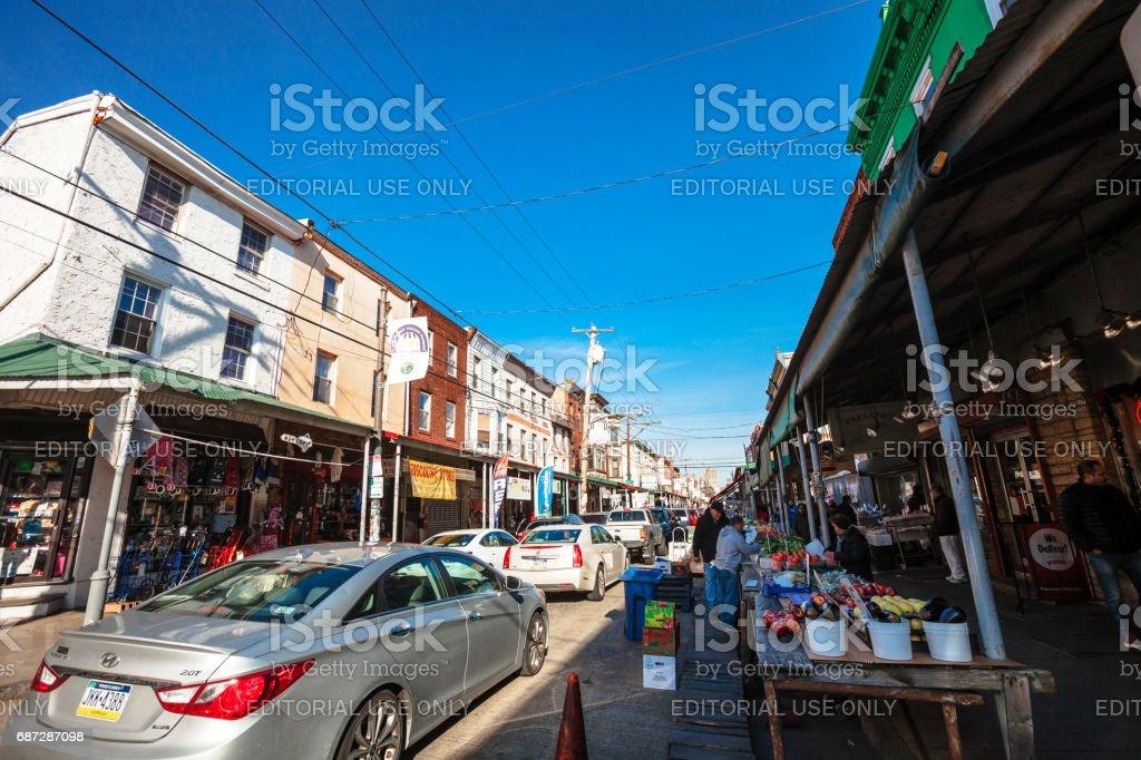 Philadelphia - 9th Street Italian Market. stock photo