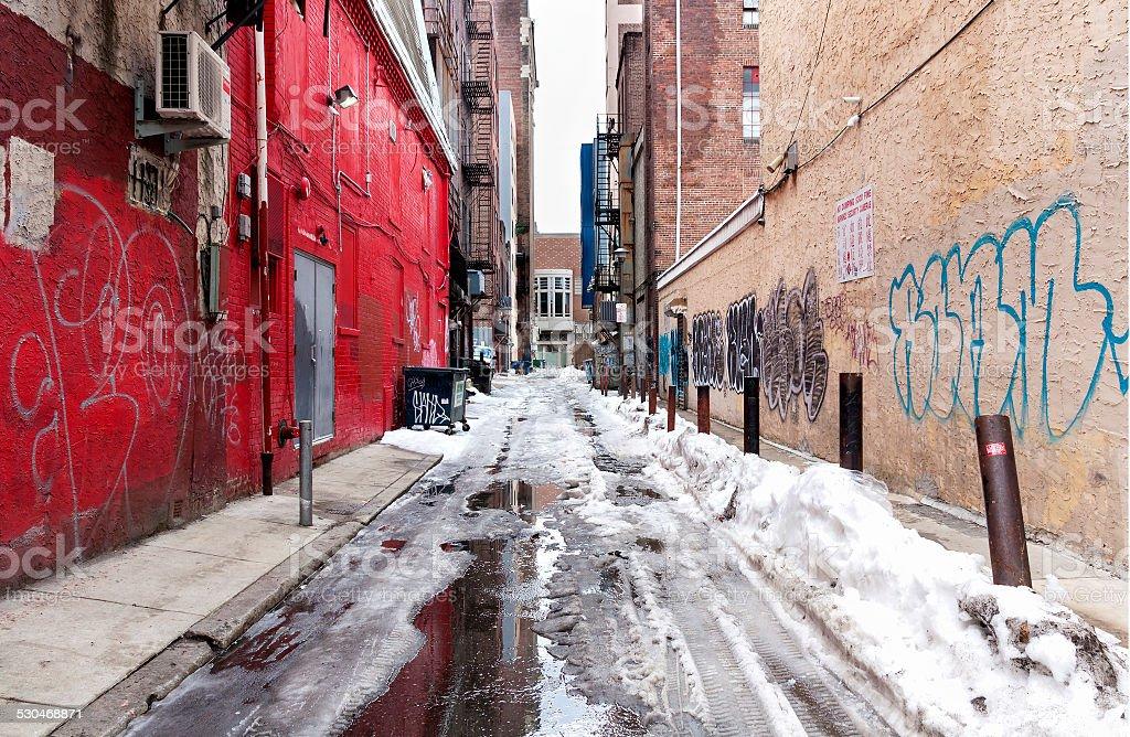 Philadelphia Alley - Chinatown stock photo