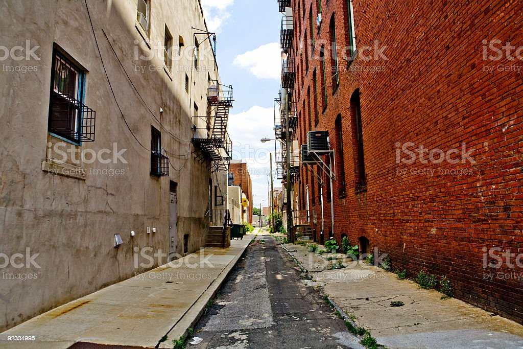 Philadelphia alley royalty-free stock photo
