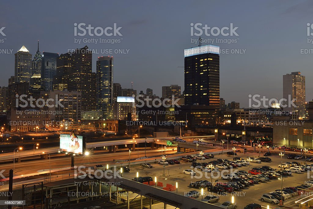Philadelphia at Night royalty-free stock photo