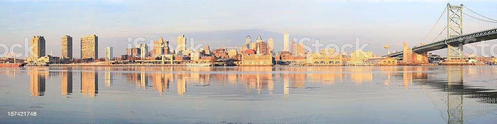 Philadelphia at Sunrise royalty-free stock photo