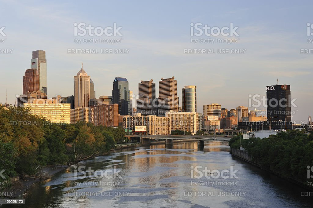 Philadelphia at Sunset royalty-free stock photo