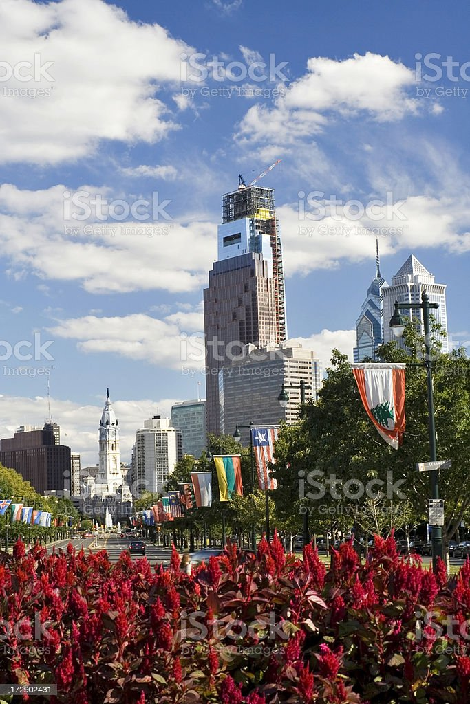 Philadelphia Benjamin Franklin Parkway stock photo