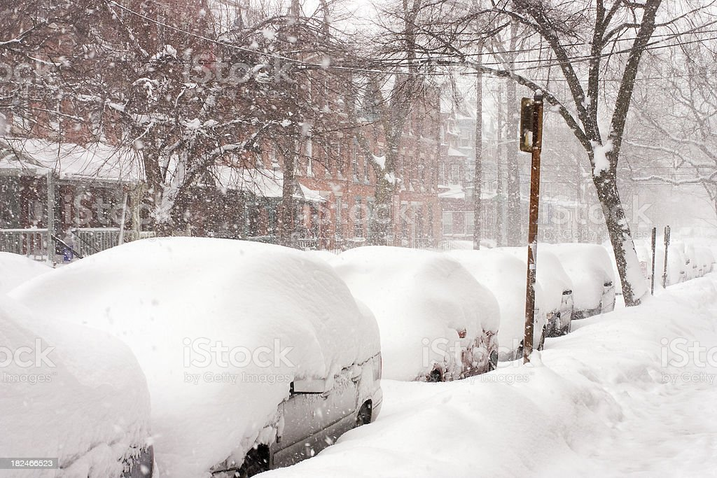 Philadelphia blizzard 2010 royalty-free stock photo