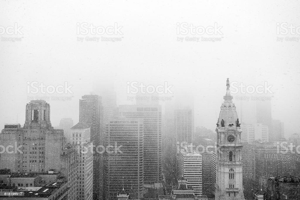 Philadelphia Blizzard stock photo