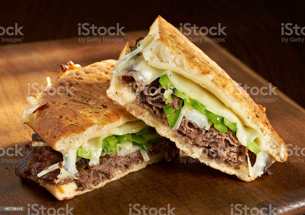 Philadelphia Cheese Steak Panini stock photo