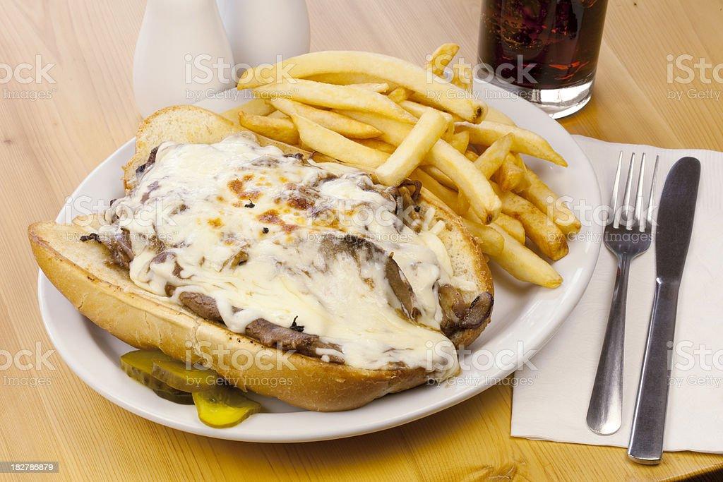 Philadelphia Cheese Steak Sandwich royalty-free stock photo