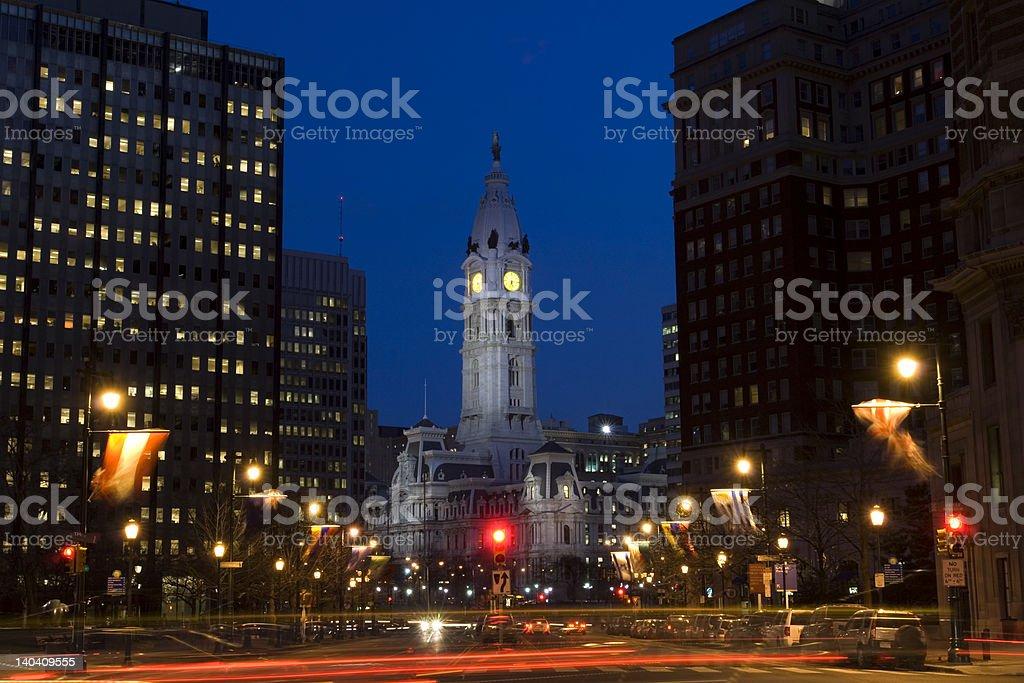 Philadelphia city center stock photo