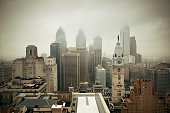 Philadelphia city rooftop