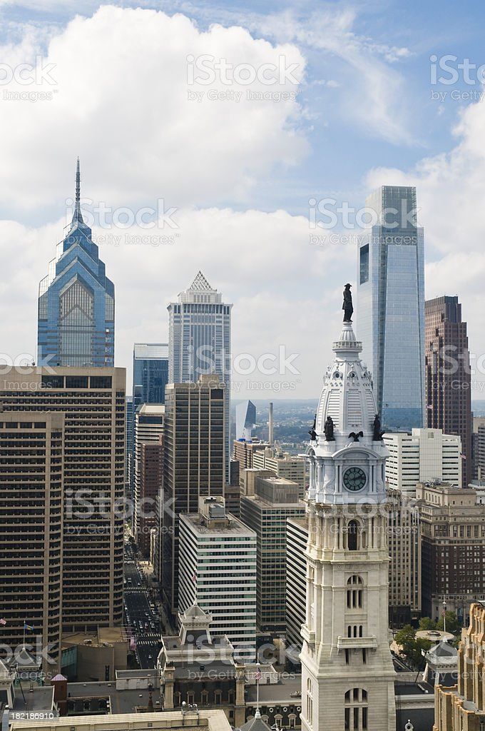 Philadelphia cityscape royalty-free stock photo