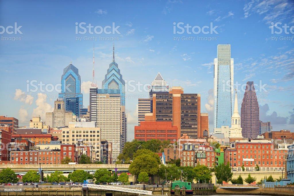 Philadelphia cityscape stock photo