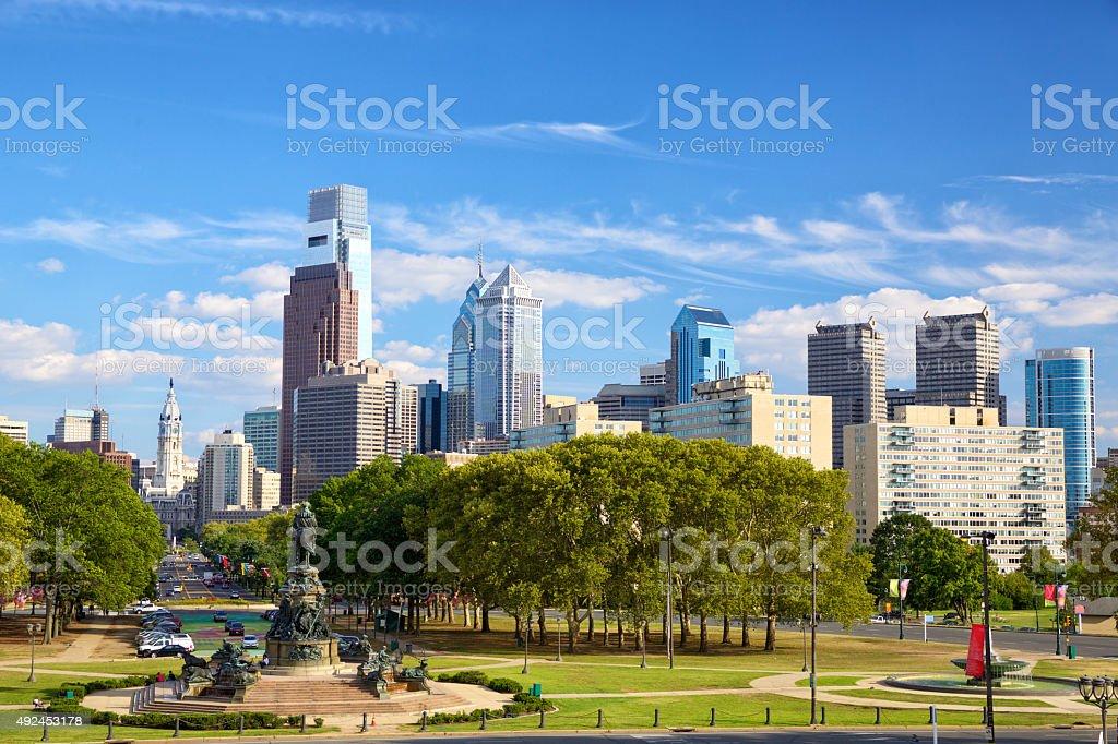 Philadelphia downtown stock photo