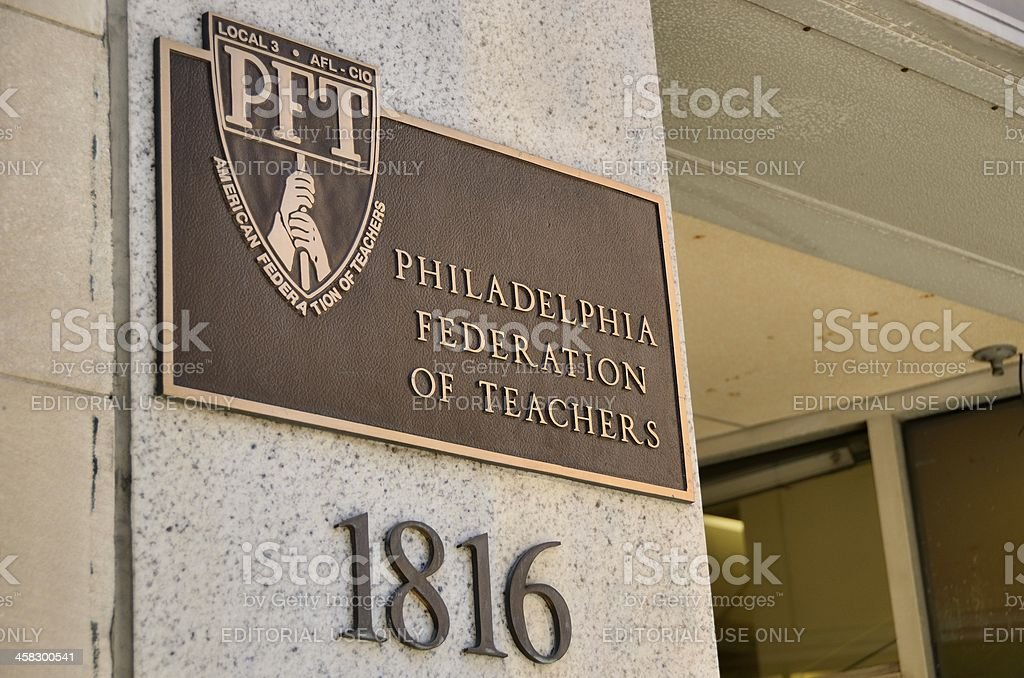Philadelphia Federation of Teachers stock photo