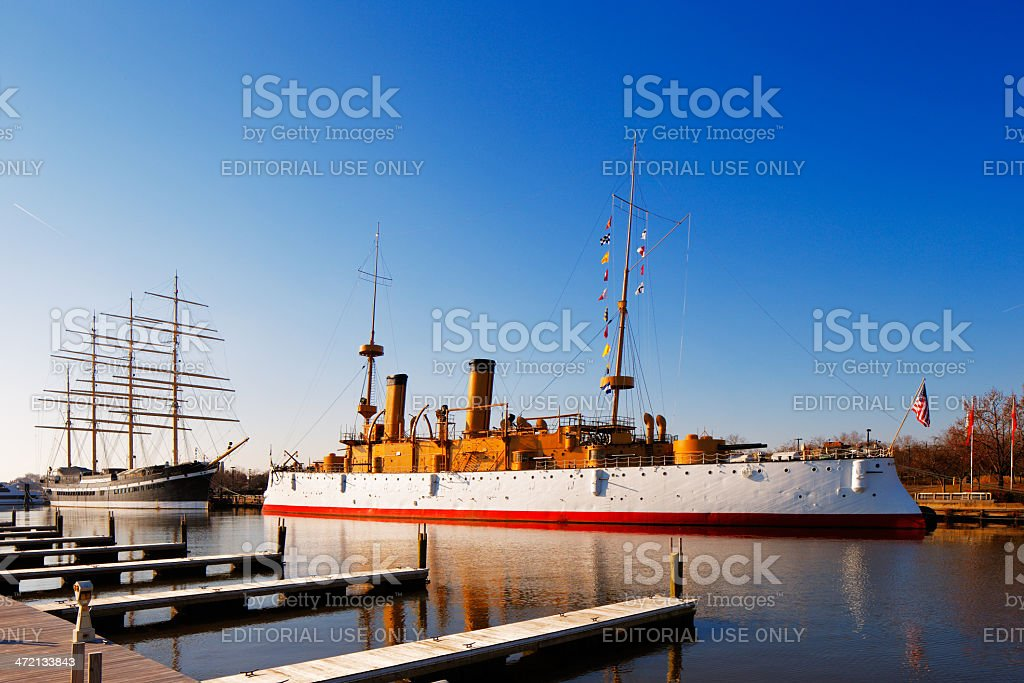 Philadelphia is home to two of America's historic sailing ships stock photo