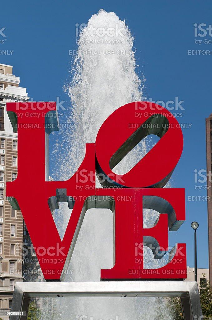 Philadelphia Love Sculpture stock photo