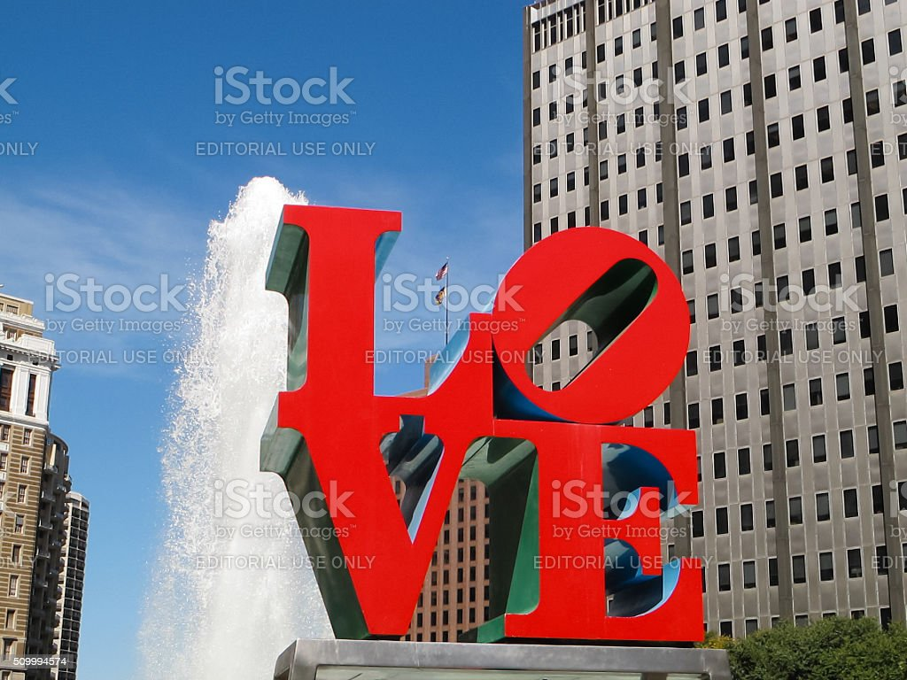 Philadelphia Love Sculpture stock photo
